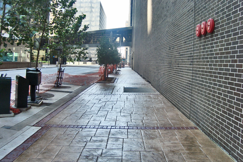 Commercial Concrete Stamped Sidewalk Houston