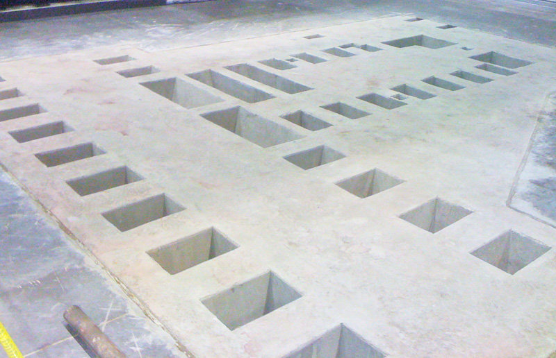 Concrete Machinery Mount Leave Out Boxes