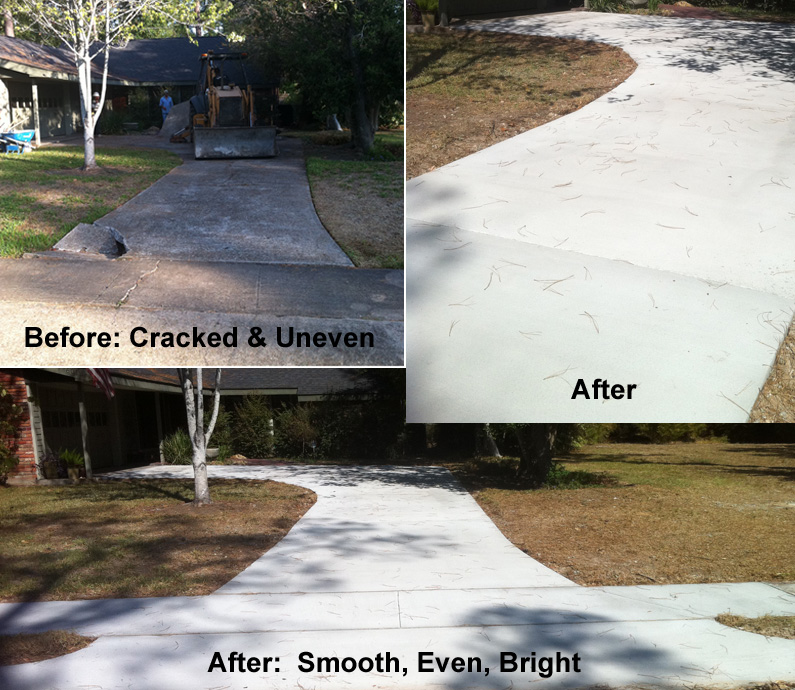 Concrete Driveway Repair Houston Before After