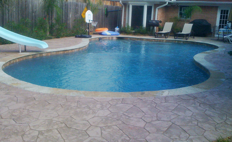 Stamped Concrete Around Pool Mesmerizing Pool Deck Replacement  Concrete Construction Of Houston